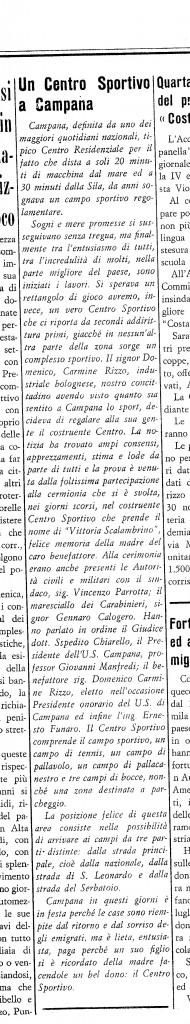 CRONACA DI CALABRIA  31 AGOSTO 1969