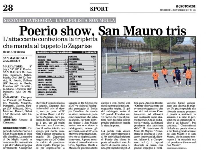 San Mauro Zagarise Il Crotonese 14 nov 2017 ri
